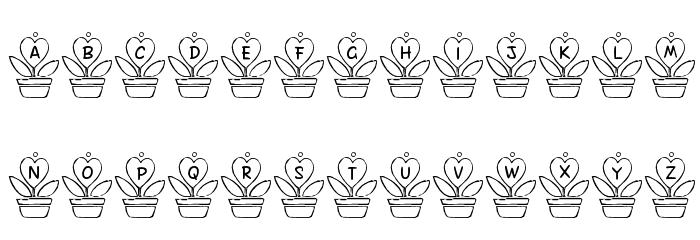 FL Love Plant Font Litere mari