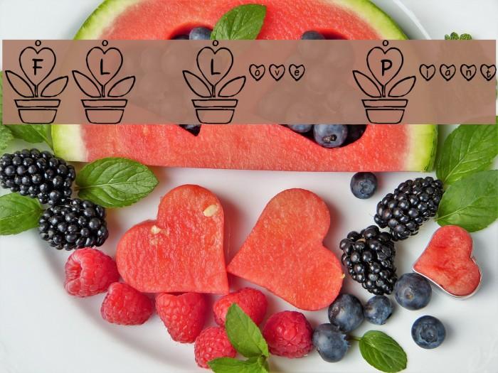FL Love Plant Font examples