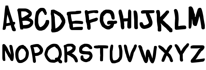 Flabby Bums handwriting Font UPPERCASE