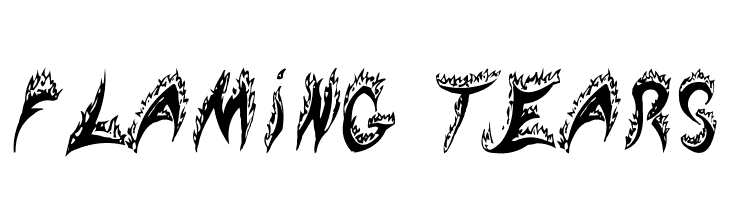 Flaming Tears  Free Fonts Download