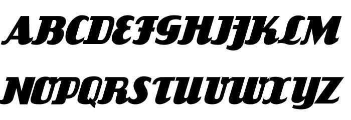 FlandersRide Italic Font UPPERCASE