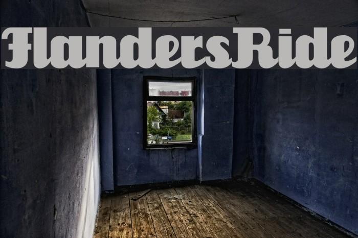 FlandersRide Font examples