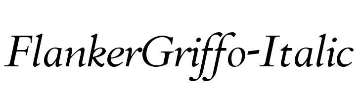FlankerGriffo-Italic  Frei Schriftart Herunterladen