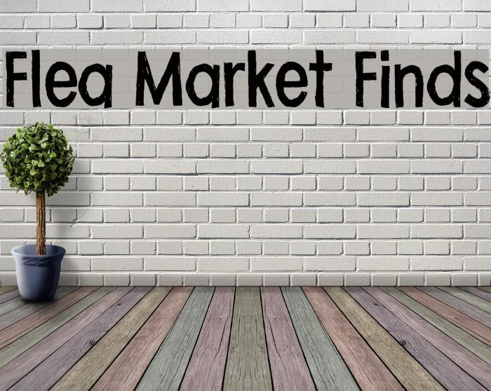 Flea Market Finds Font examples