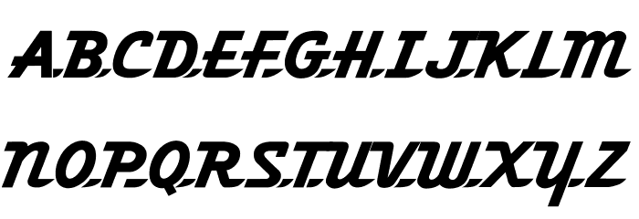 Fleetwilly Font UPPERCASE