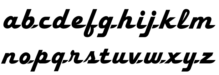 Fleetwilly Font LOWERCASE