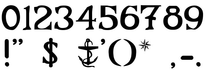Flibustier Thin Шрифта ДРУГИЕ символов
