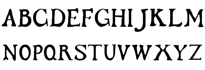 Flibustier Thin Шрифта ВЕРХНИЙ