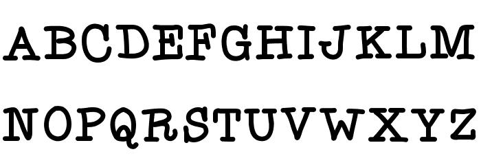 Flocked3 フォント 大文字