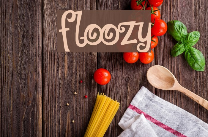 Floozy Шрифта examples