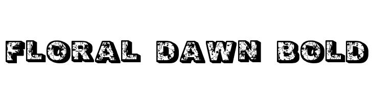 Floral Dawn Bold  Frei Schriftart Herunterladen