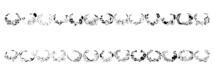 Floral Settings Font LOWERCASE