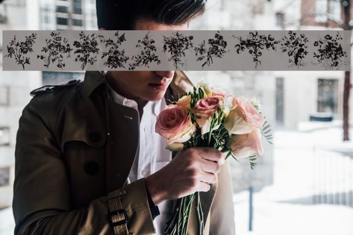 Florals1 Font examples