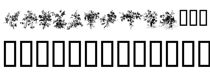 Florals1 Font LOWERCASE