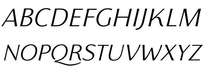 Florentia Light Italic Font UPPERCASE
