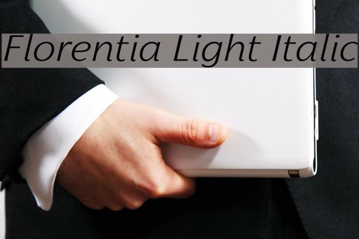 Florentia Light Italic Font examples