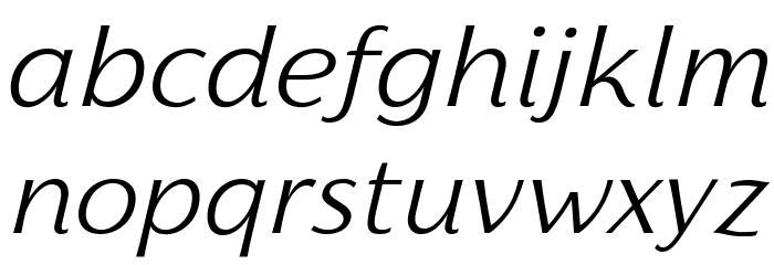 Florentia Light Italic Font LOWERCASE