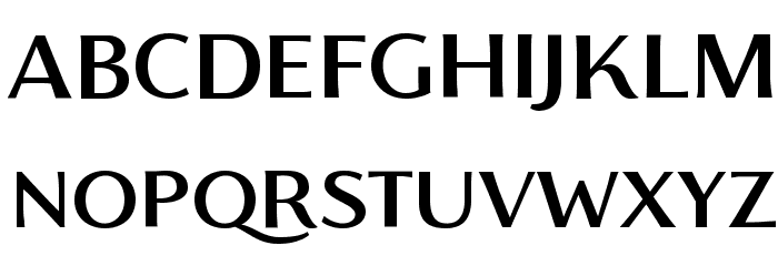 Florentia Medium Font UPPERCASE