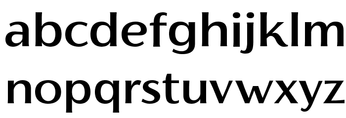 Florentia Medium Font LOWERCASE