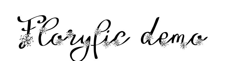 Floryfic Demo  les polices de caractères gratuit télécharger