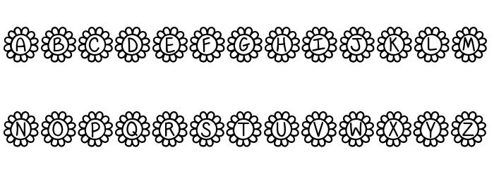Flower Power Fonte MAIÚSCULAS