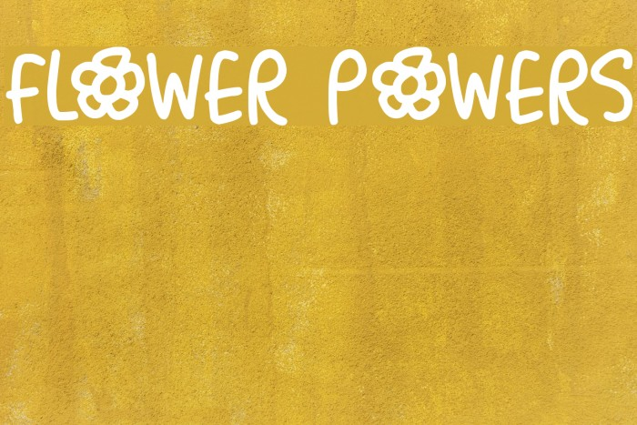 Flower Powers Font examples