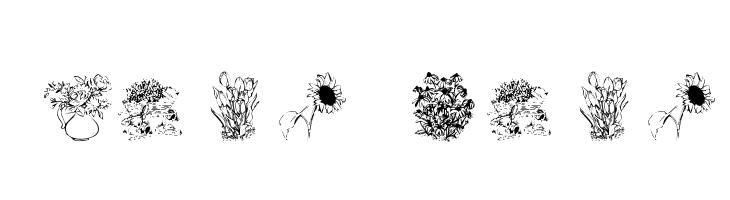 Flower Shower  Free Fonts Download