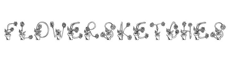 FlowerSketches  नि: शुल्क फ़ॉन्ट्स डाउनलोड
