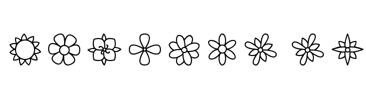 Flowers St  Free Fonts Download