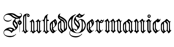 FlutedGermanica  Free Fonts Download