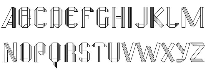 Fold Font UPPERCASE