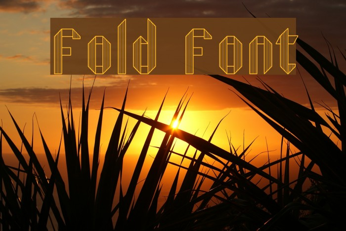 Fold Font examples
