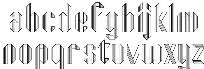 Fold Font LOWERCASE