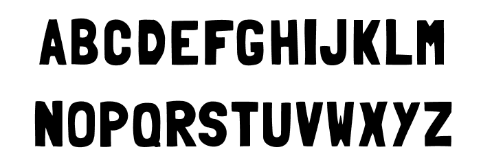 Folk-solid Font LOWERCASE