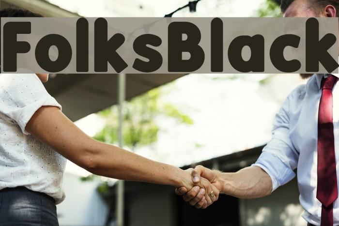 FolksBlack फ़ॉन्ट examples