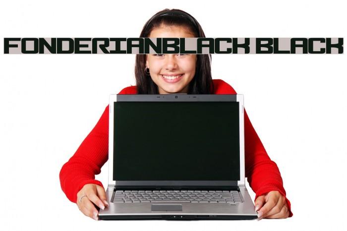 FonderianBlack Black Caratteri examples