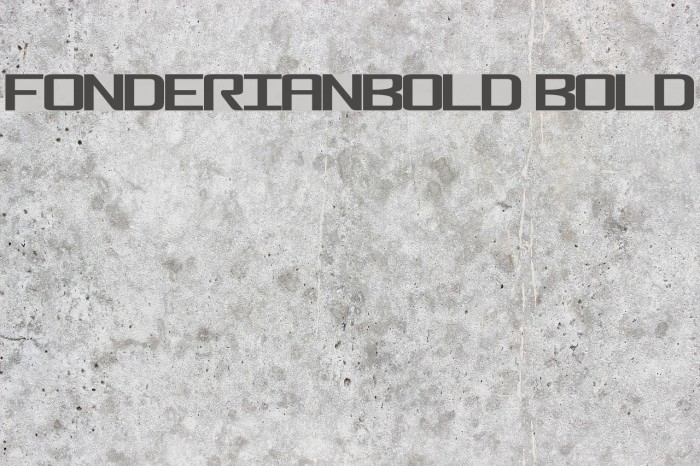 FonderianBold Bold Font examples