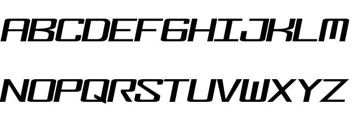 FonderianItalic Font UPPERCASE