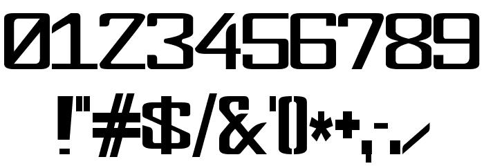 FonderianSkinny Font OTHER CHARS