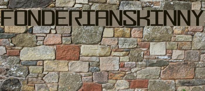 FonderianSkinny Font examples