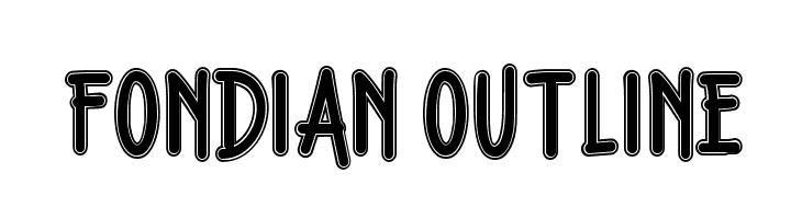 Fondian Outline  Скачать бесплатные шрифты