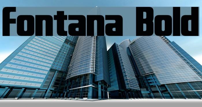 Fontana Bold Font examples