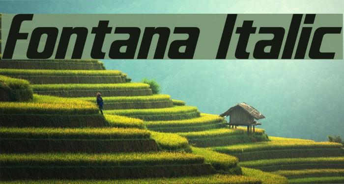 Fontana Italic Font examples