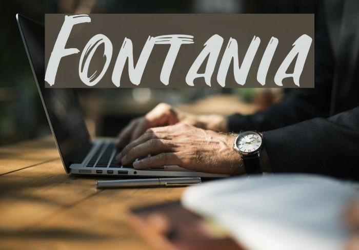 Fontania Font examples