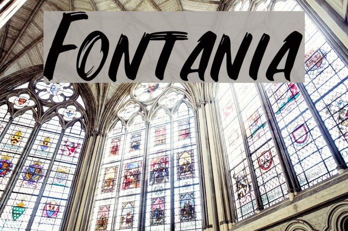 Fontania フォント examples