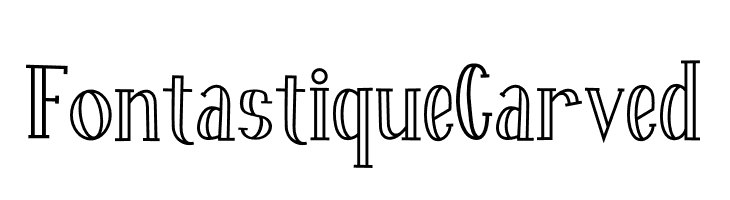 Fontastique Carved  Descarca Fonturi Gratis