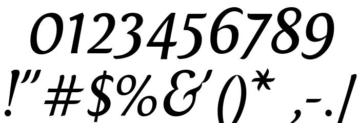 Fontin Italic Font Alte caractere