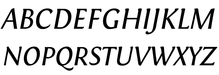 Fontin Italic Font Litere mari