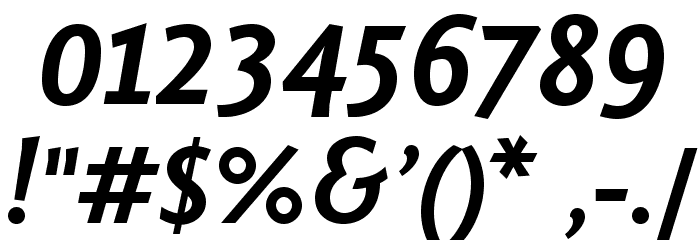 Fontin Sans Bold Italic Font Alte caractere