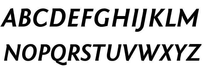 Fontin Sans Bold Italic Font Litere mari